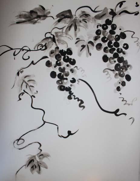 Японская живопись тушью мастер класс + видео #4